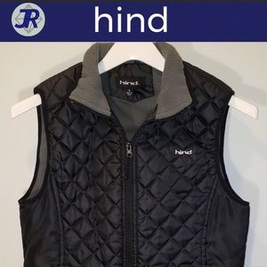 🕶Quilted Zip Up Fleece-Lined Puffer Vest-Hind